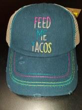 Catchfyl Baseball Cap Feed Me Tacos