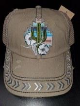 Catchfly Baseball Cap Tan & Cactus