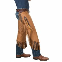 Vintage Cowboy Chinks with Basketweave Yoke Set