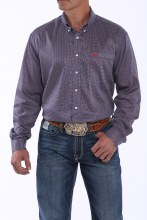 Cinch Long Sleeve Print BUtton-Down Shirt M