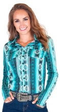 Cowgirl Tuff Co. Aztec Sport Jersey Pullover X Small