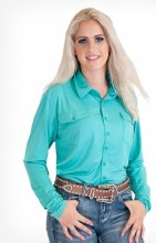 Cowgirl Tuff Co. Turquoise Jersey Pullover Small