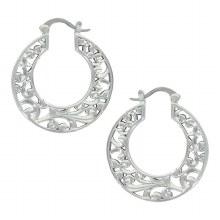 Montana Silversmiths Filigree Hoop Earrings