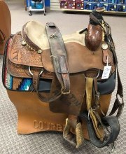 "Frontier Rope Saddle 17"" Used"