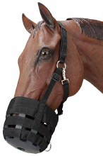 Tough 1 Poly/nylon grazing muzzle with Halter-Pony Size