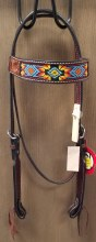 HEADSTALL BEAD RED/YELLOW