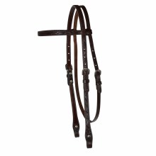 "Circle Y 5/8"" Floral Tooled Headstall"