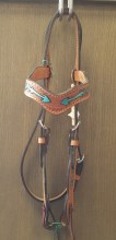 Alamo Saddlery Arrows Headstall