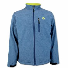 Hooey Softshell Jacket Navy/Lime Small