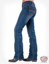 "Cowgirl Tuff Co. ""Edgy Coral"" Jeans"