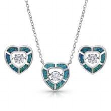Montana Silversmiths Dancing Heart Jewelry Set