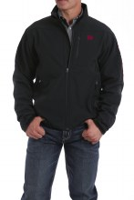 Men's Bonded Jacket Black/Red M