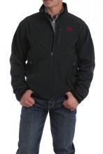 Men's Bonded Jacket Black/Red S