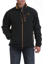 Men's Concealed Carry Bonded Jacket Black/Gold M