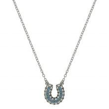 Montana Silversmiths Buckstitched Looped Horseshoe Necklace