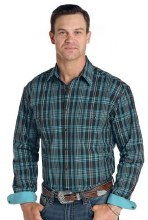 Panhandle Men's Roughstock Bramton Vintage Plaid Small