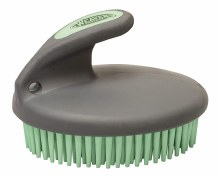 Palm Held Rubber Curry Comb Mint/Gray