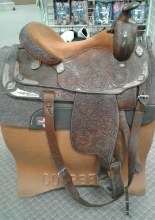 "Shamrock Show Saddle 16"" Used"