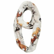 Scarf infinity Horses All Over