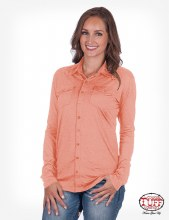 Cowgirl Tuff Pullover Button-Up Medium