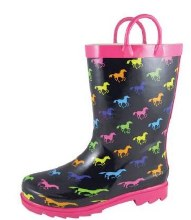 Smoky Mountian Child's Pony Rubber Boots Size 9