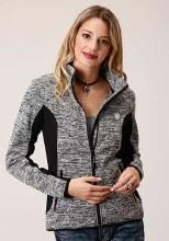 Sweater Knit Zip Large