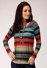 Roper Sweater Scoop Neck Knit Medium