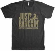 Just Ranchin Tee Black L