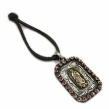 Escapulario Fino Virgen De Guadalupe Rojo