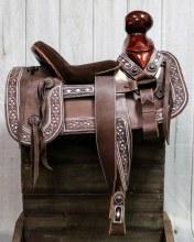 "15"" Charro Saddle Mexican Saddlebags Silla Charra Cantinas"
