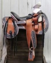 """15"""" Montura silla Charra Cafe Mexican Saddle"""