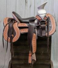 """15"""" Brown Charro Mexican Saddle Silla Charra"""
