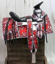 "15.5"" Mexican Charro Saddle Montura Charra Bordada (Fina)"