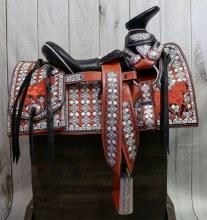 "15"" Horse Saddle Embroidered Montura Charra Bordada (Fina) Charro"