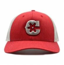 """C"" Red Heather hat"