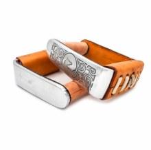 Orange Stirrups aluminium II estribos gamuza