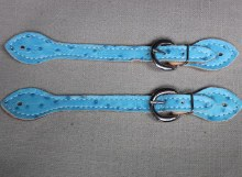 Blue Cowgirl Spur Straps
