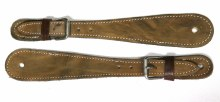 Gray/Green Simple Spur Straps