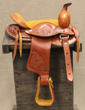"10"" Tan Kids Saddle"