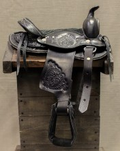 "10"" Black RD Mini Pony Saddle"