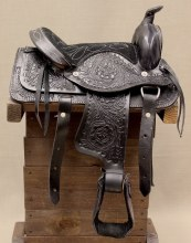 "10"" Black Western Mini Pony Saddle"