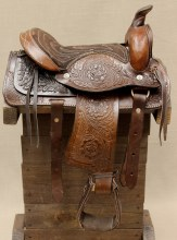 "10"" Brown Leather Mini Pony Saddle"