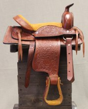 "12"" Tan Kids Pony Saddle"