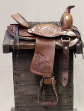 "10"" Brown Western Kids Saddle"