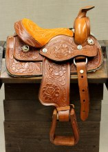 "8"" Kids Tan Western Saddle"