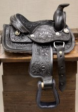 "8"" Black Mini Saddle"