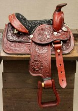 "8"" Red Pony Saddle Western"