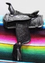 """5"""" Black Leather Decor Saddle"""