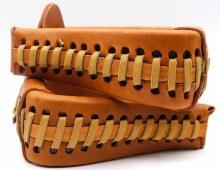 "3 ""Leather Stirrups Estribos"