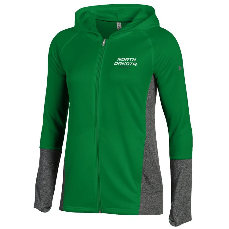 UNIVERSITY OF NORTH DAKOTA HOCKEY LADIES UNDER ARMOUR TECH HOOD